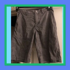 COPY - Boys Large Quicksilver Grey striped shorts